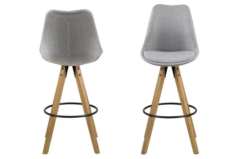 Barová židle Dima Melange Actona šedá/dřevo
