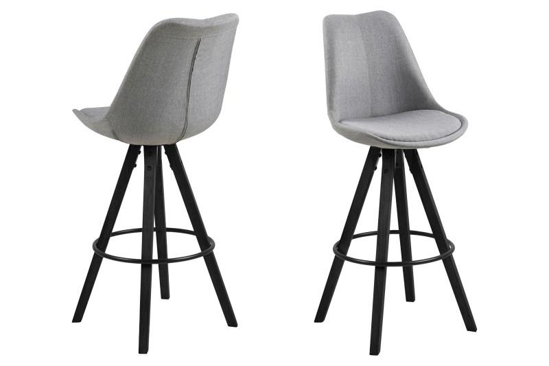 Barová židle Dima Melange šedá/černá