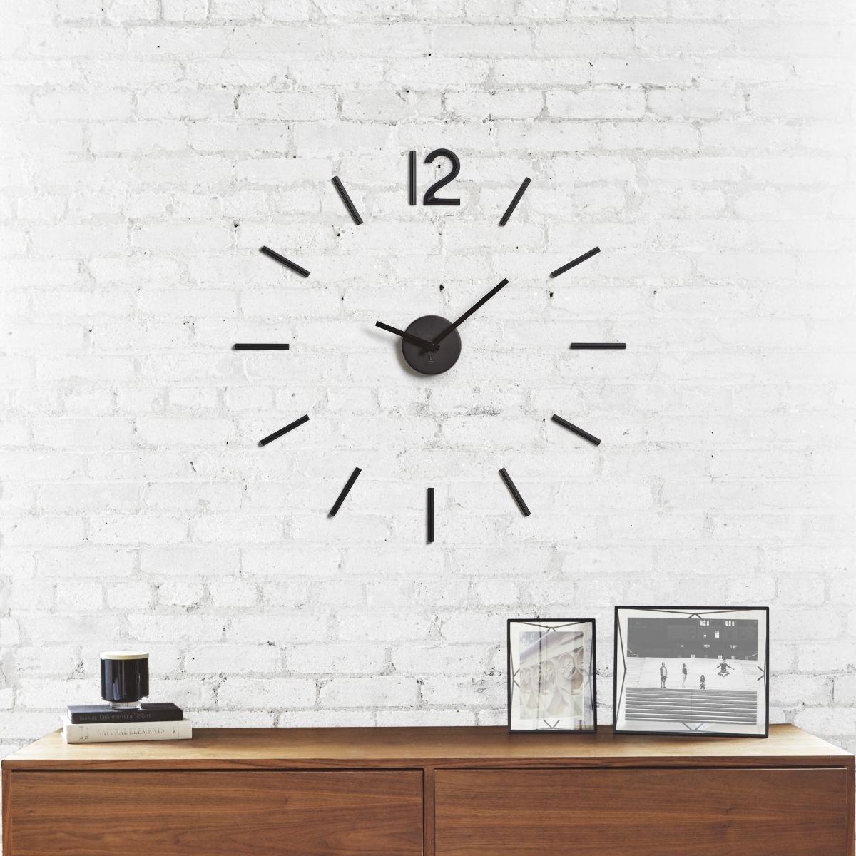 Zegar ścienny, czarny, Blink - zdjęcie nr 2