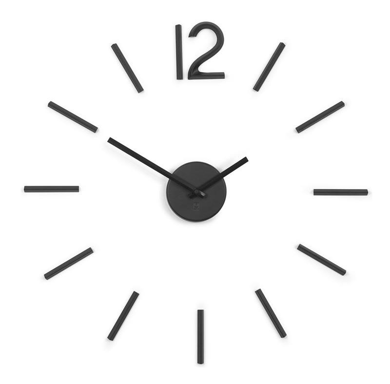Zegar ścienny, czarny, Blink - zdjęcie nr 1