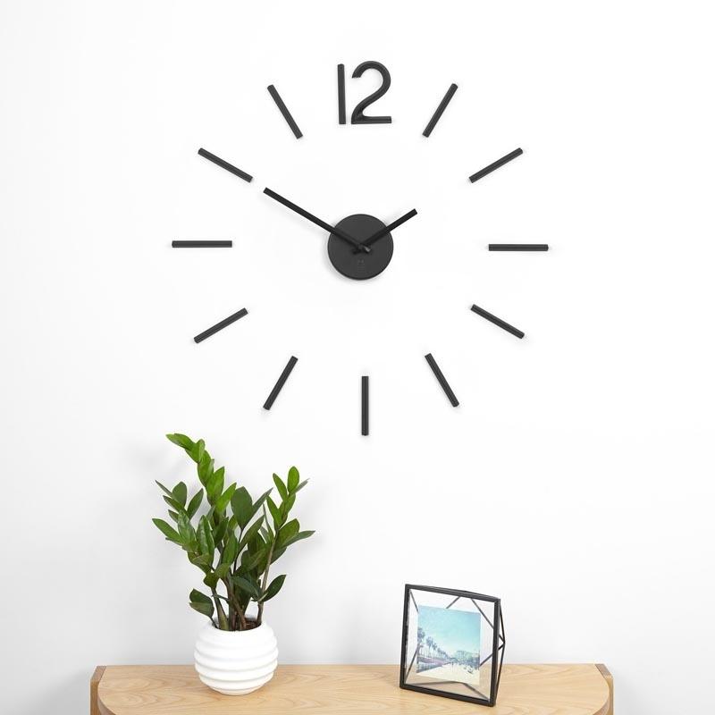 Zegar ścienny, czarny, Blink - zdjęcie nr 3