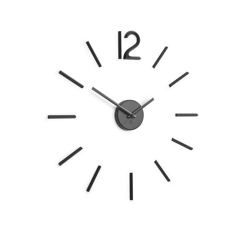 Zegar ścienny, czarny, Blink - zdjęcie nr 4