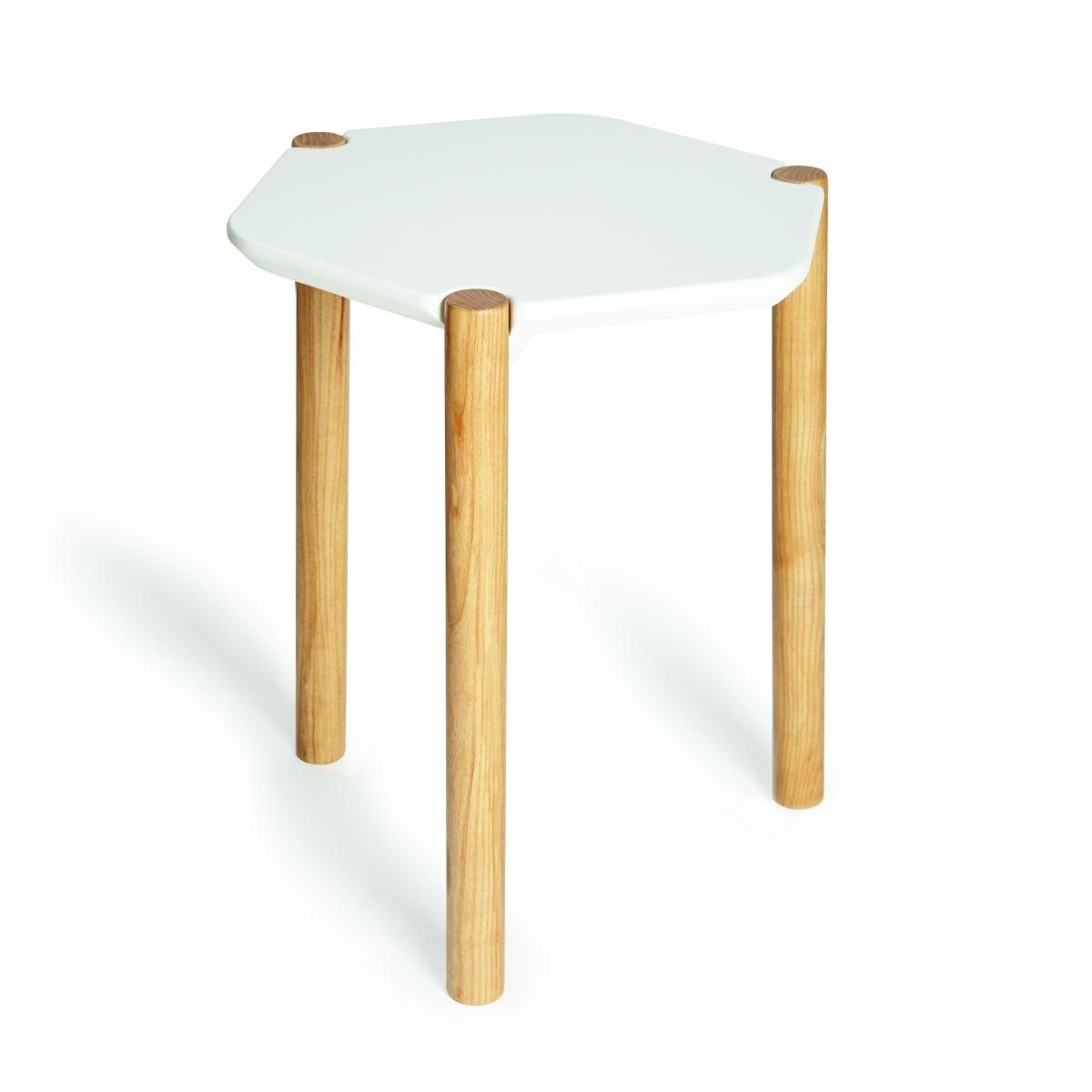 Stolik Lexy biały/naturalny - zdjęcie nr 1