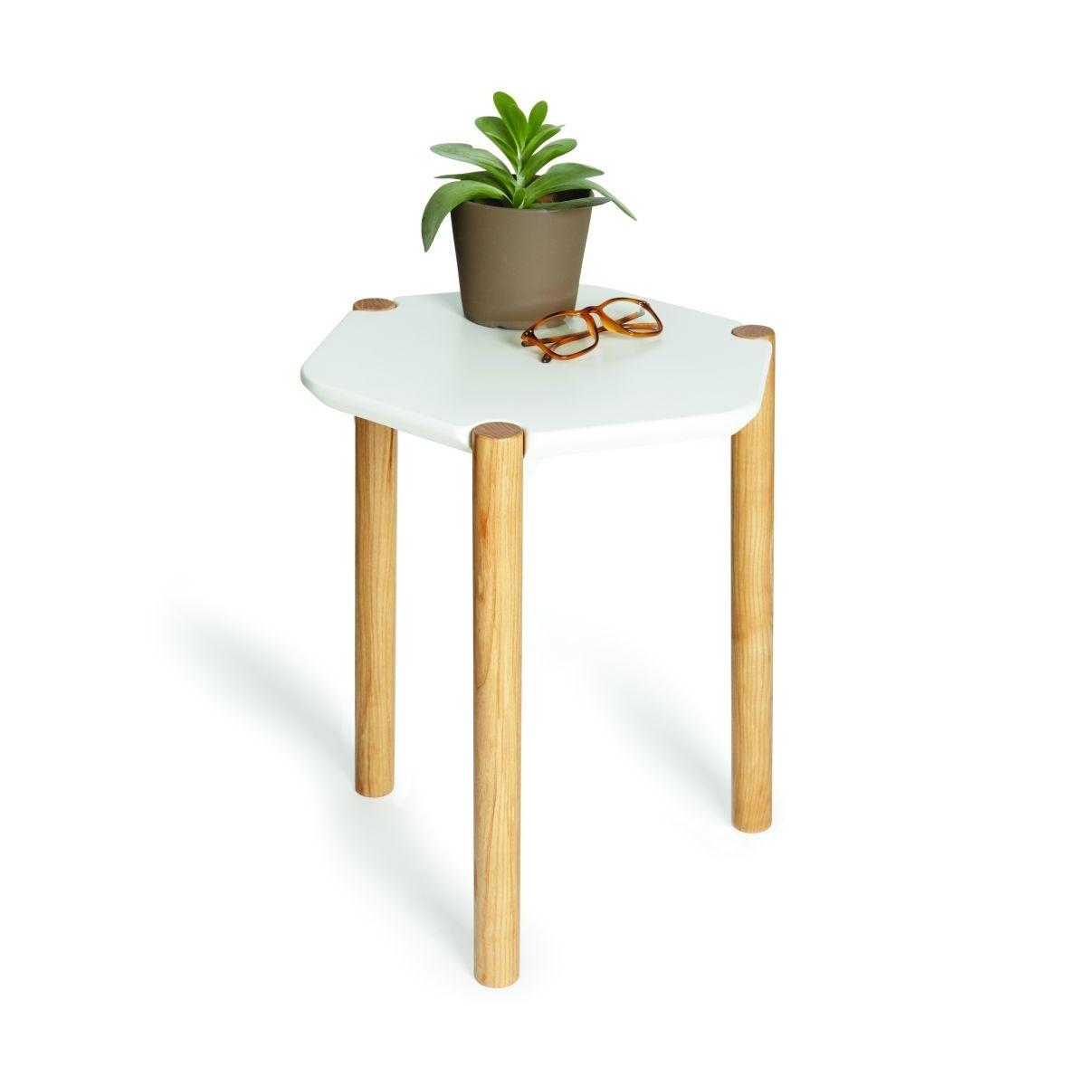 Stolik Lexy biały/naturalny - zdjęcie nr 0