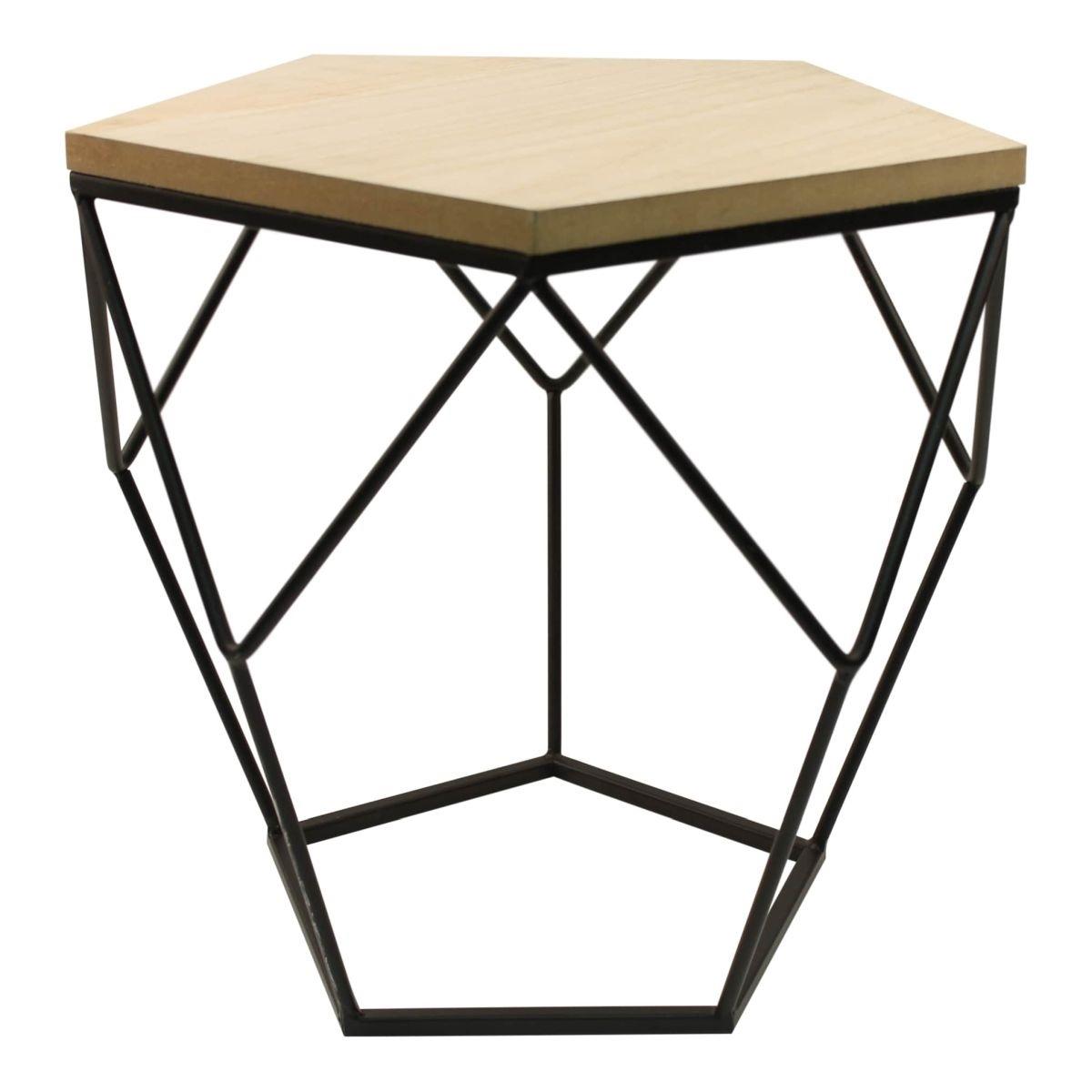 Odkládací stolek Hexxi černý