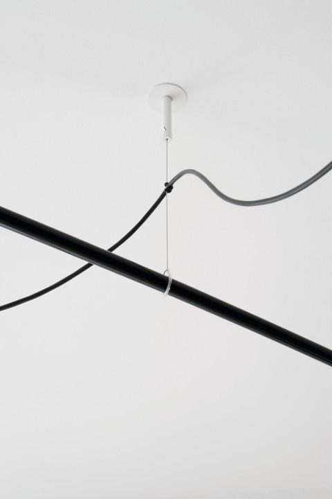 Závěsné svítidlo Robinson bílé 64 cm