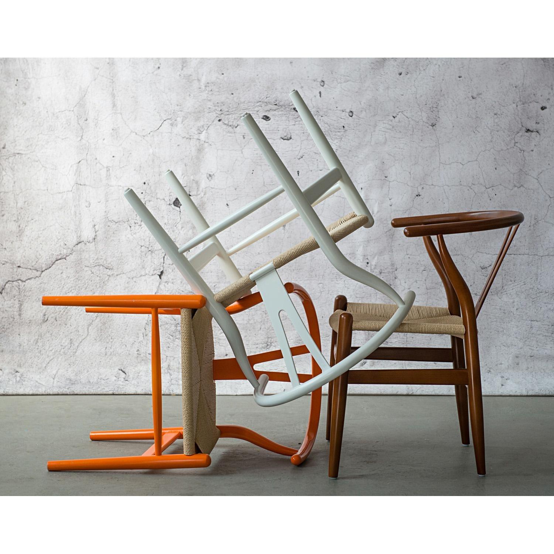 Krzesło Wicker Naturalne białe inspirowa ny Wishbone - zdjęcie nr 7