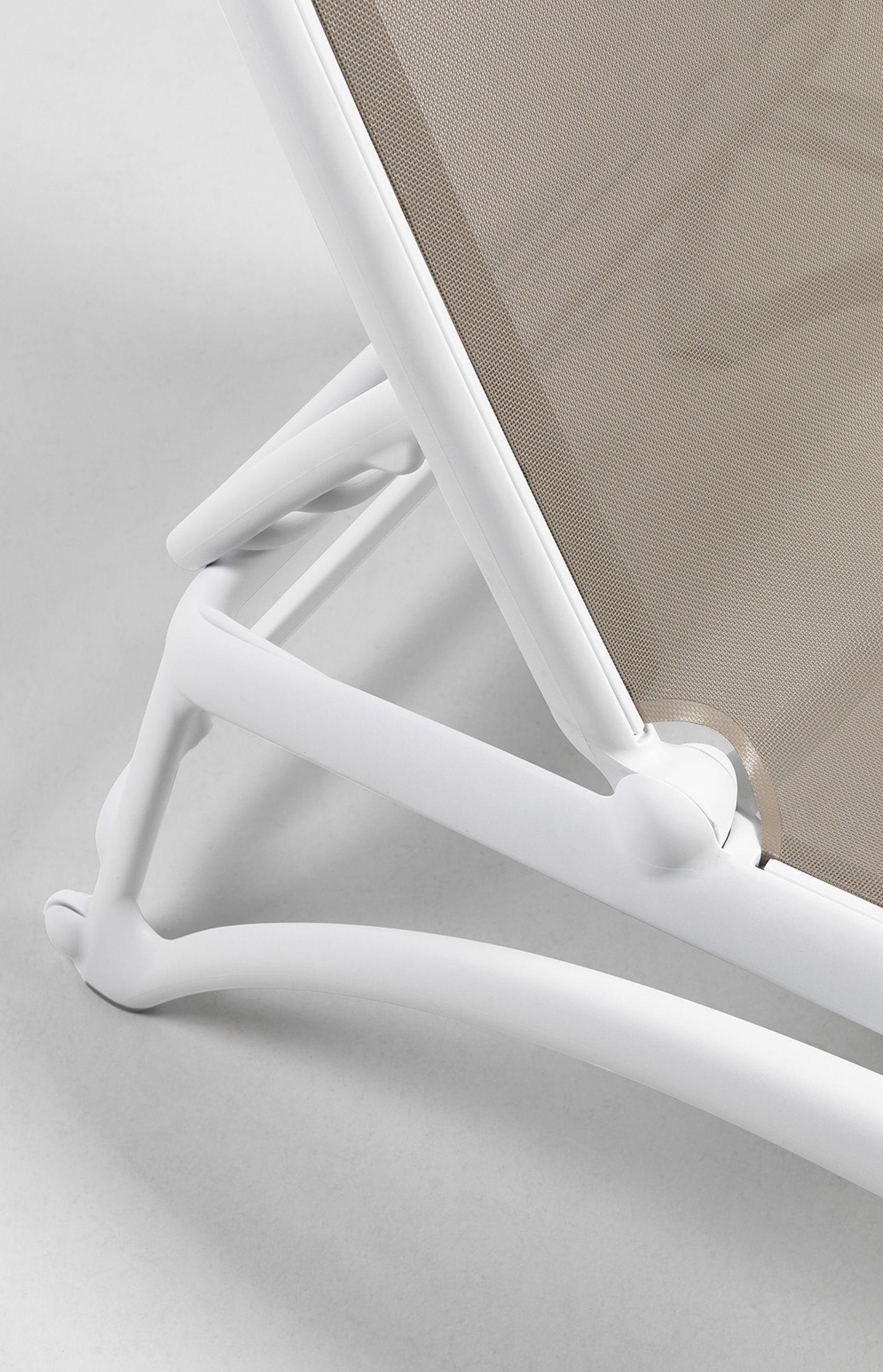 Leżak Atlantico biały /turkusowy - zdjęcie nr 8
