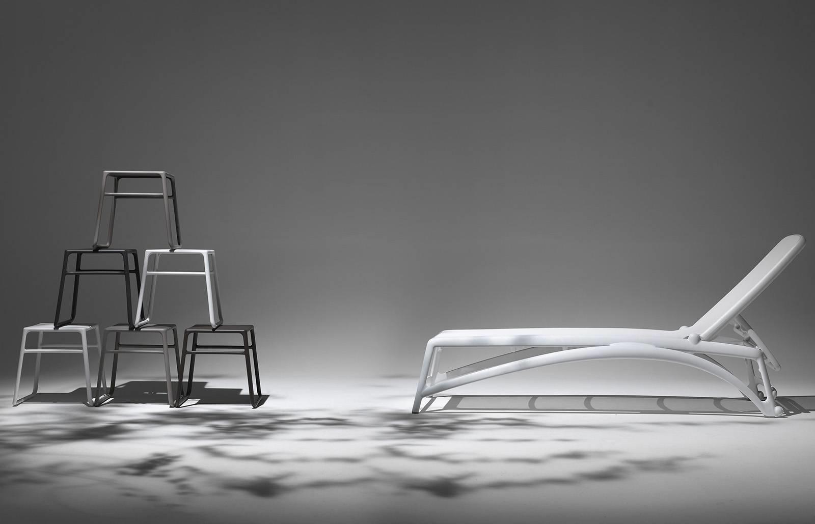 Leżak Atlantico beżowy /biały - zdjęcie nr 4