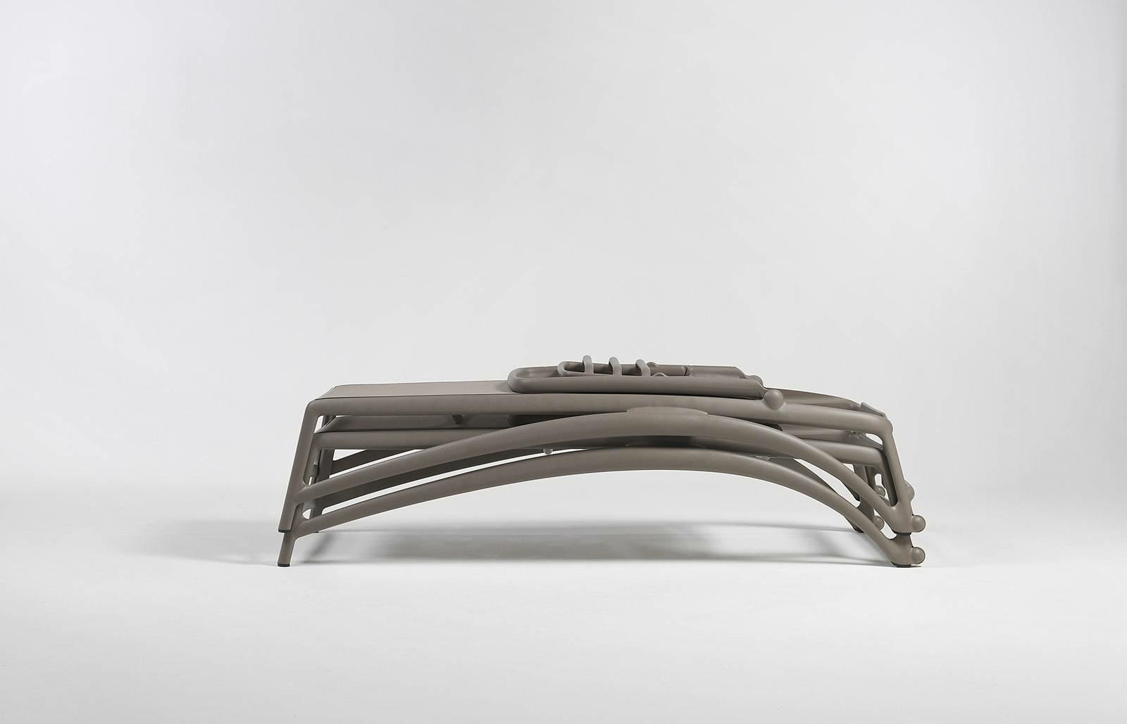 Leżak Atlantico beżowy /biały - zdjęcie nr 9