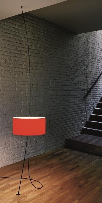 Svítidlo Totora červené 45 cm