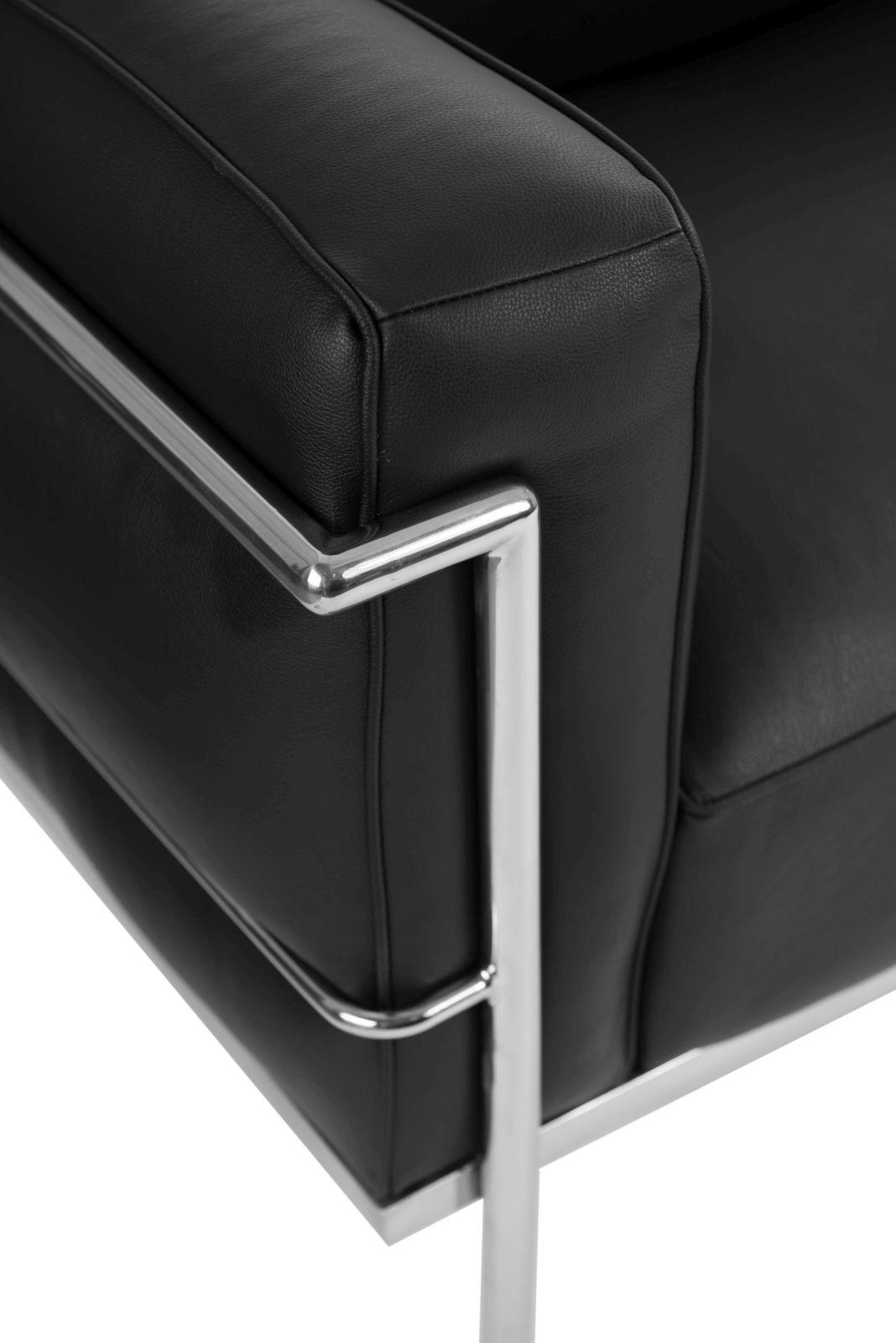 Sofa 3-osobowa Soft GC czarna skóra - zdjęcie nr 2