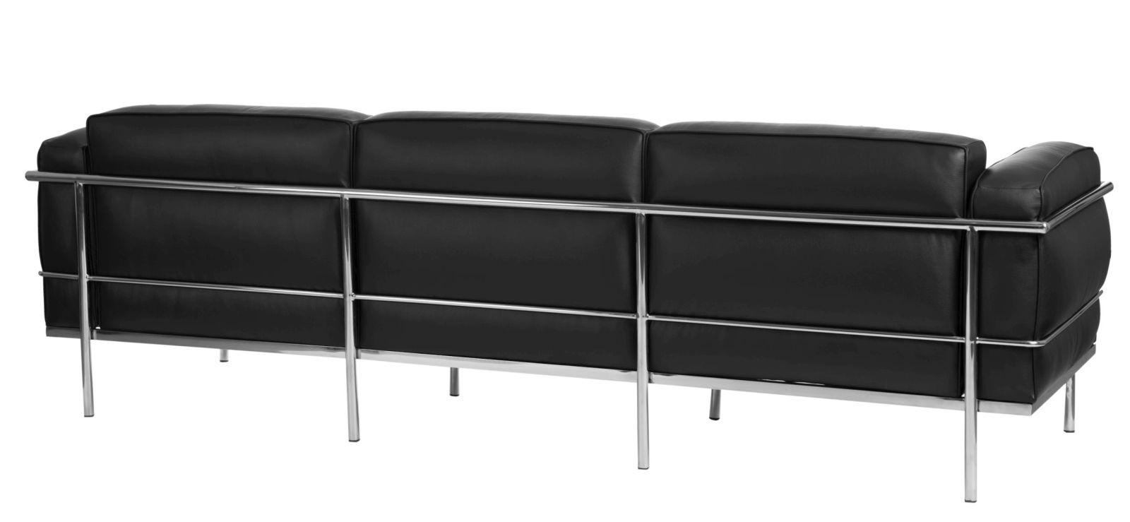 Sofa 3-osobowa Soft GC czarna skóra - zdjęcie nr 3