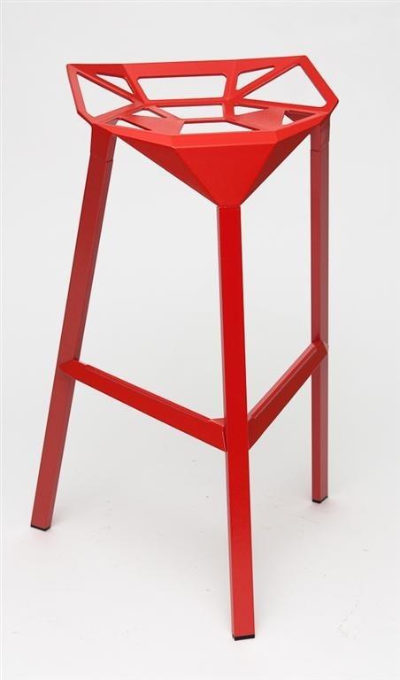 Barová židle Gap červená