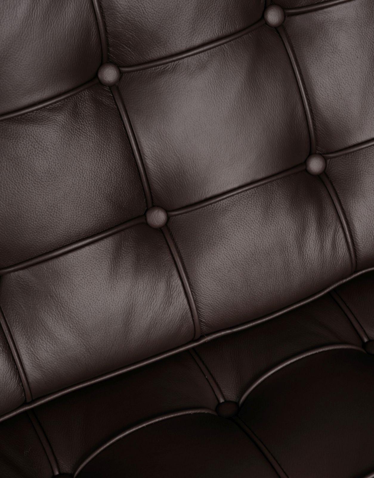 Sofa BA2 2 osobowa, brązowa skóra naturalna - zdjęcie nr 1