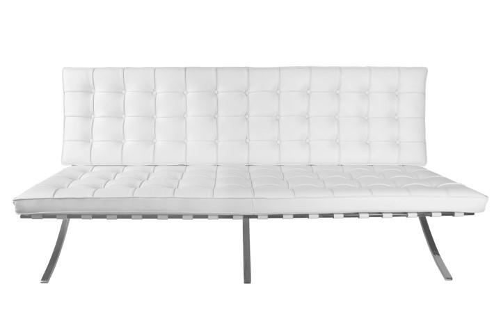 Sofa BA2 2 osobowa, biała ekoskóra - zdjęcie nr 0