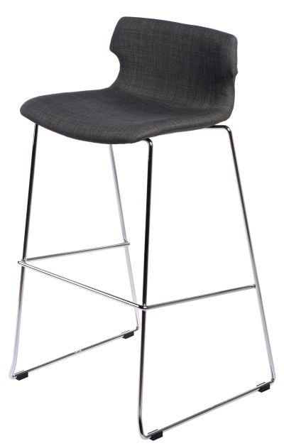 Čalouněná barová židle Techno grafitová