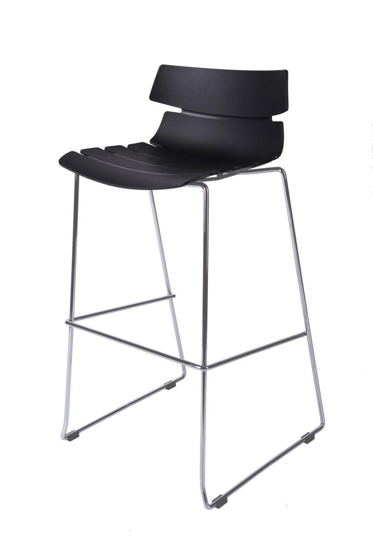 Barová židle Techno černá