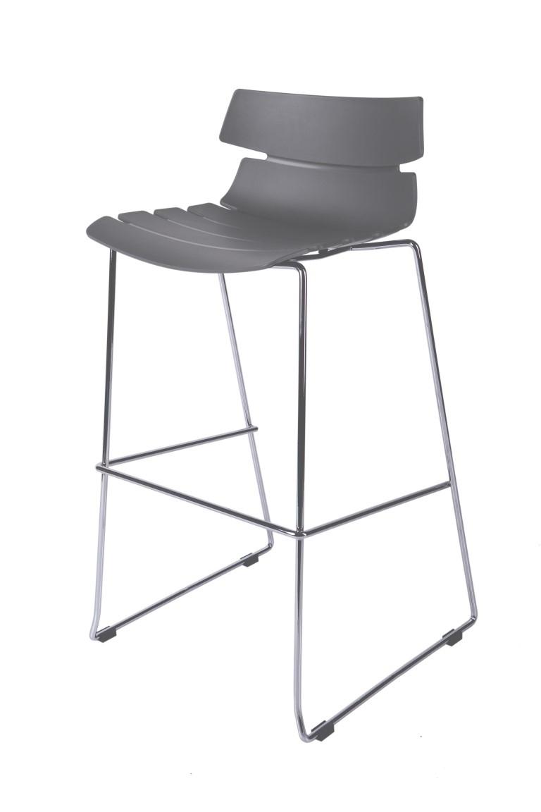 Barová židle Techno šedá