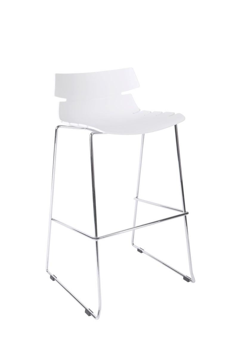 Barová židle Techno bílá