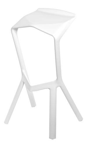Barová stolička MU bílá