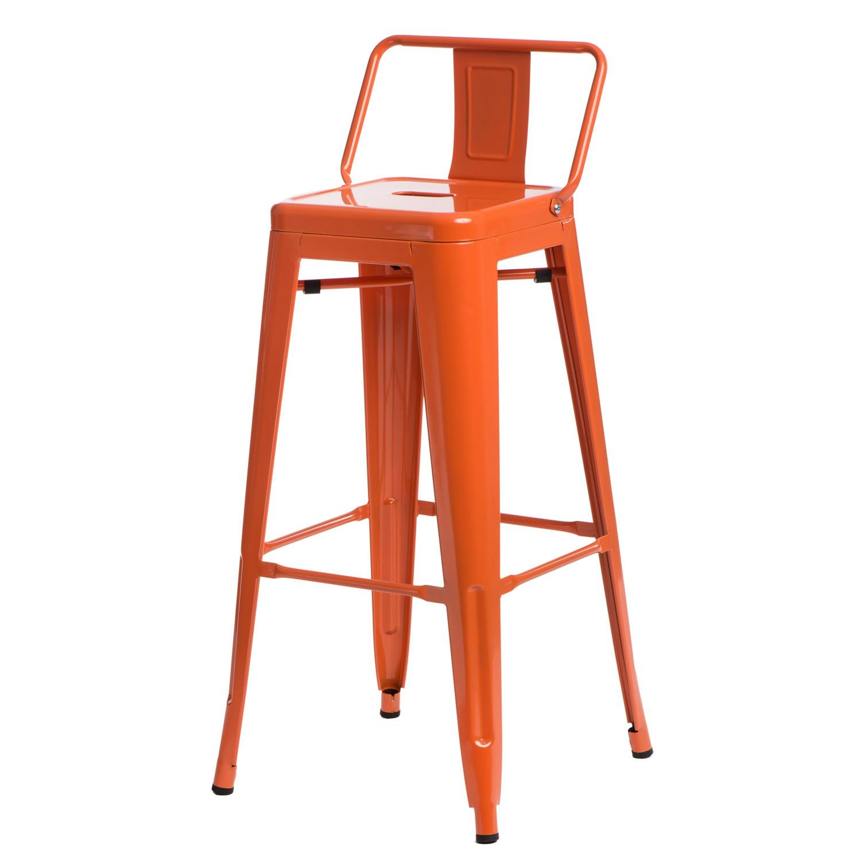 Hoker Paris 75cm short back pomarańczowy insp. Tolix - zdjęcie nr 0
