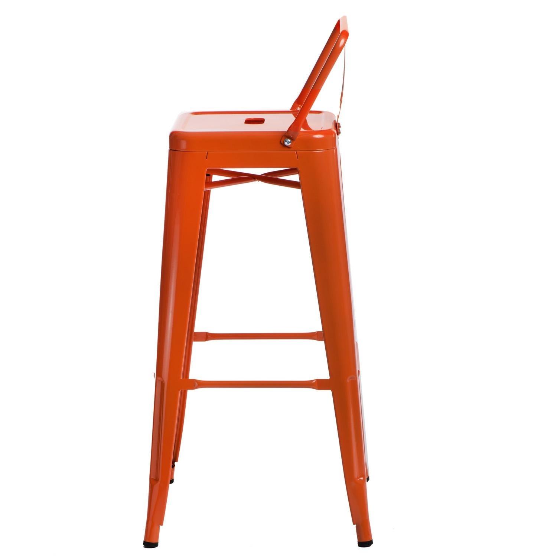 Hoker Paris 75cm short back pomarańczowy insp. Tolix - zdjęcie nr 1