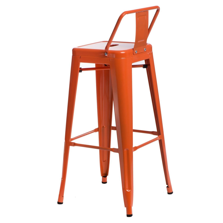Hoker Paris 75cm short back pomarańczowy insp. Tolix - zdjęcie nr 2