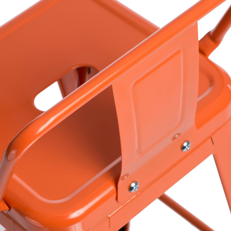 Hoker Paris 75cm short back pomarańczowy insp. Tolix - zdjęcie nr 8