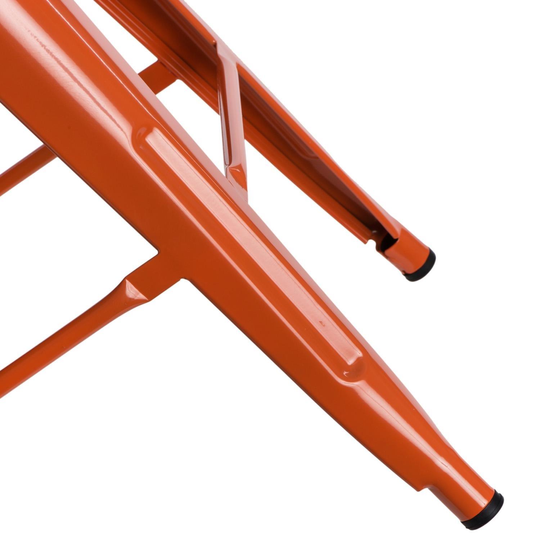 Hoker Paris 75cm short back pomarańczowy insp. Tolix - zdjęcie nr 9
