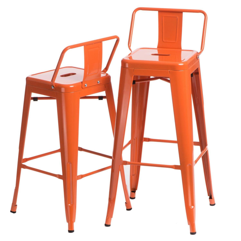 Hoker Paris 75cm short back pomarańczowy insp. Tolix - zdjęcie nr 10