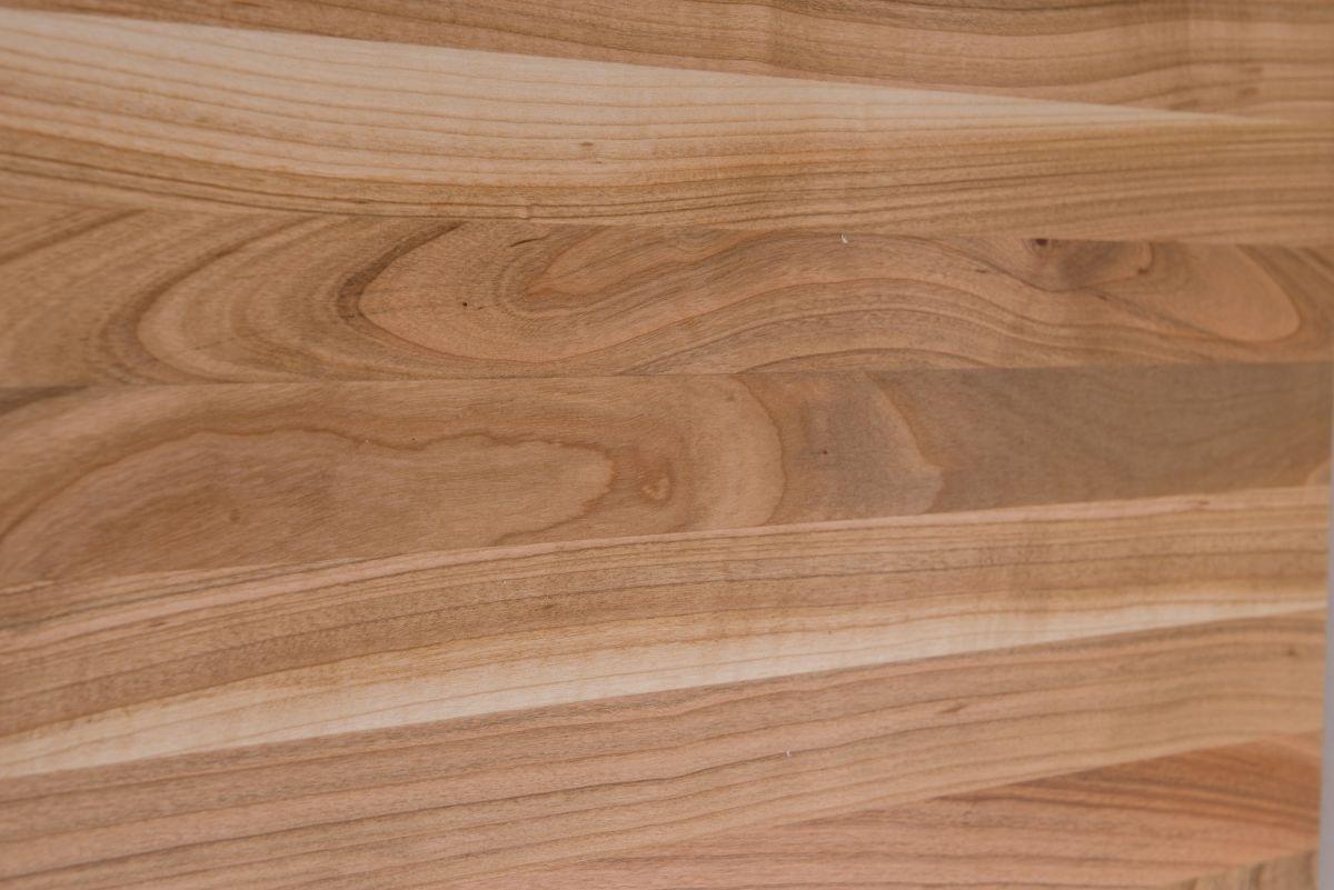 Stolik loftowy GRAPHI 60x60 biały profil 30 mm blat lakierowany z czereśni naturalny - zdjęcie nr 1