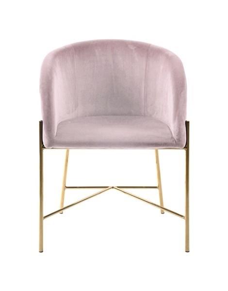 Fotel Nelson różowy/złota podstawa - zdjęcie nr 1