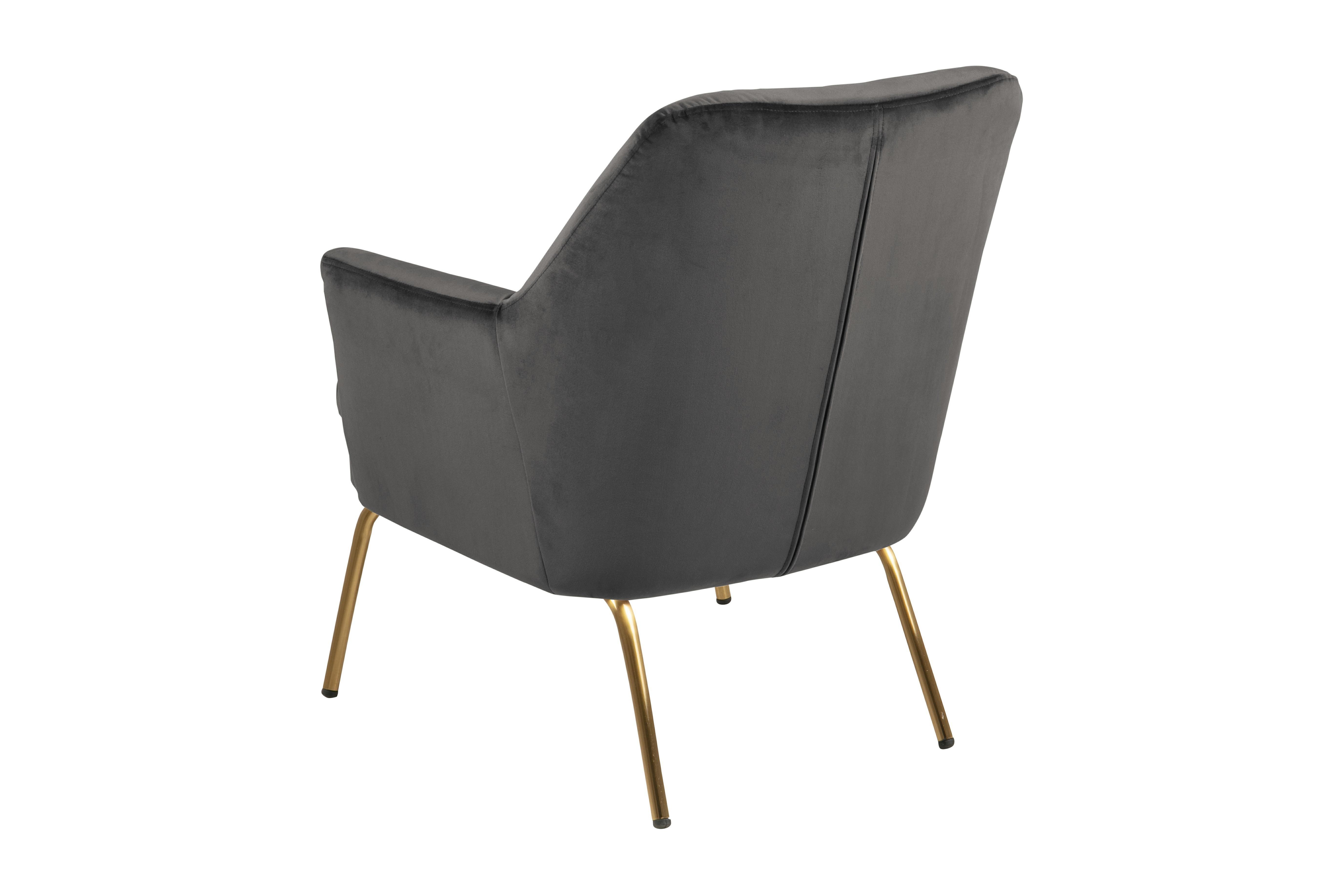 Fotel Chisa VIC Dark Grey/Gold - zdjęcie nr 1