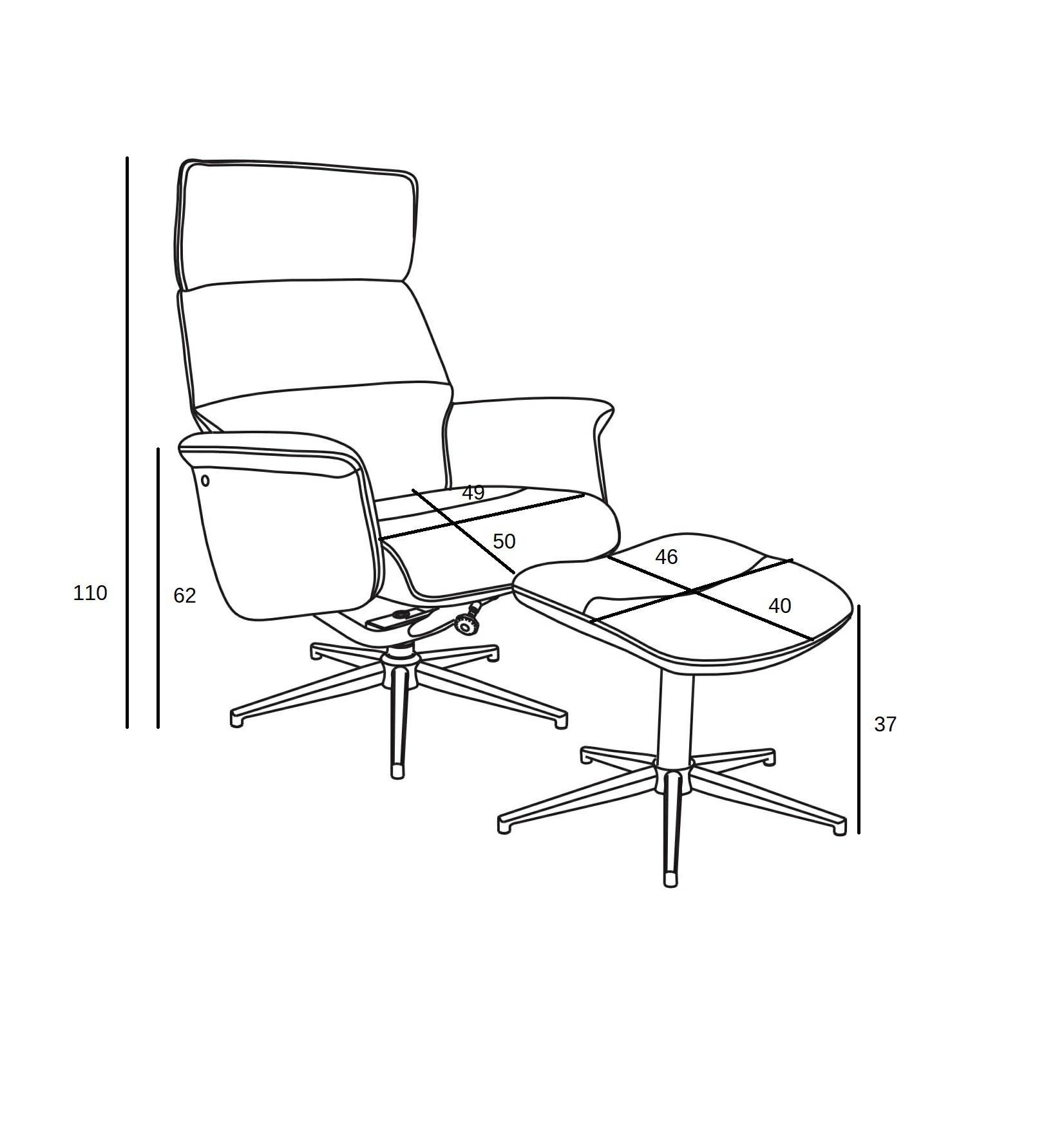 Fotel z podnóżkiem Alura ciemnoszary - zdjęcie nr 6