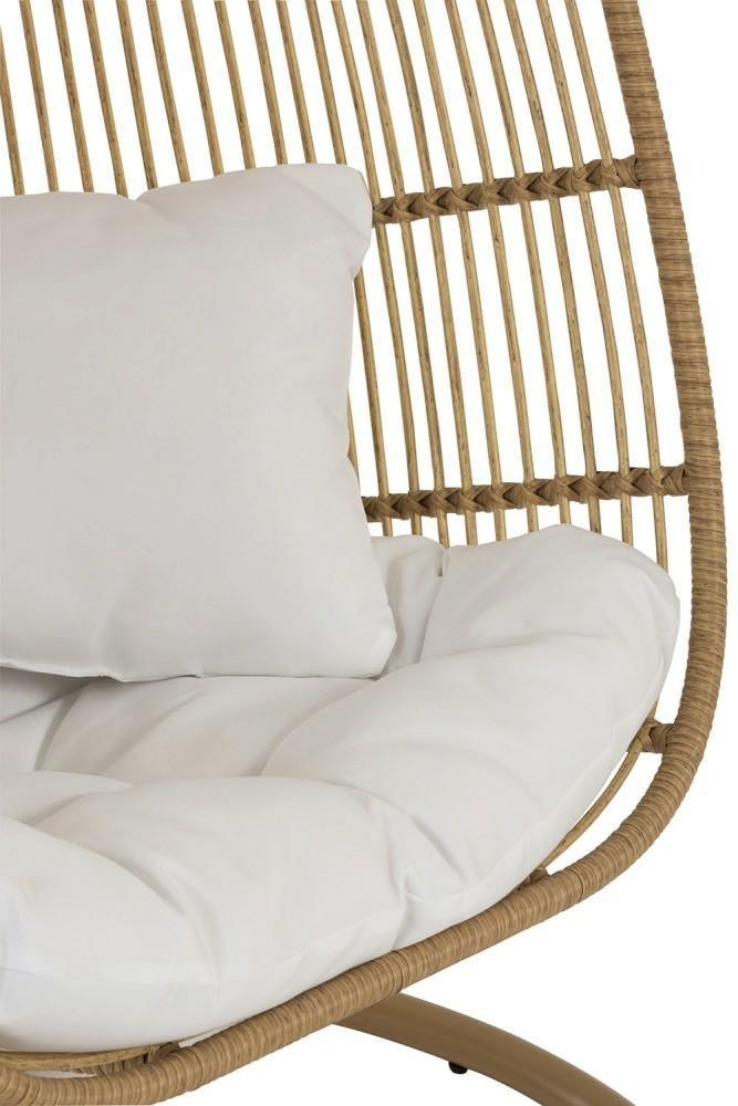 Fotel wiszący Oval brązowy - zdjęcie nr 6