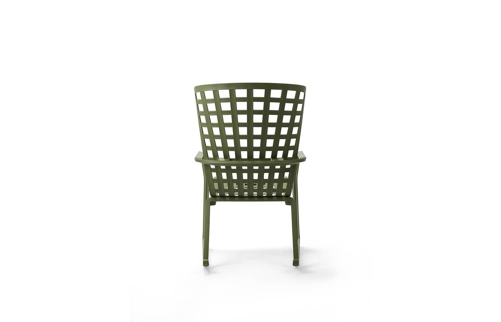 Fotel bujany z podłokietnikami Folio zie lony - zdjęcie nr 2