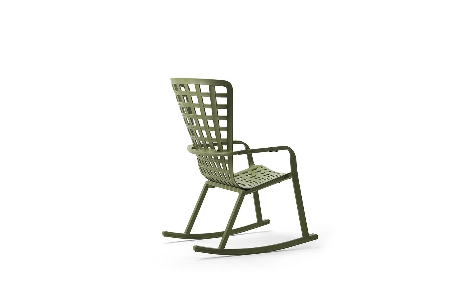 Fotel bujany z podłokietnikami Folio zie lony - zdjęcie nr 5