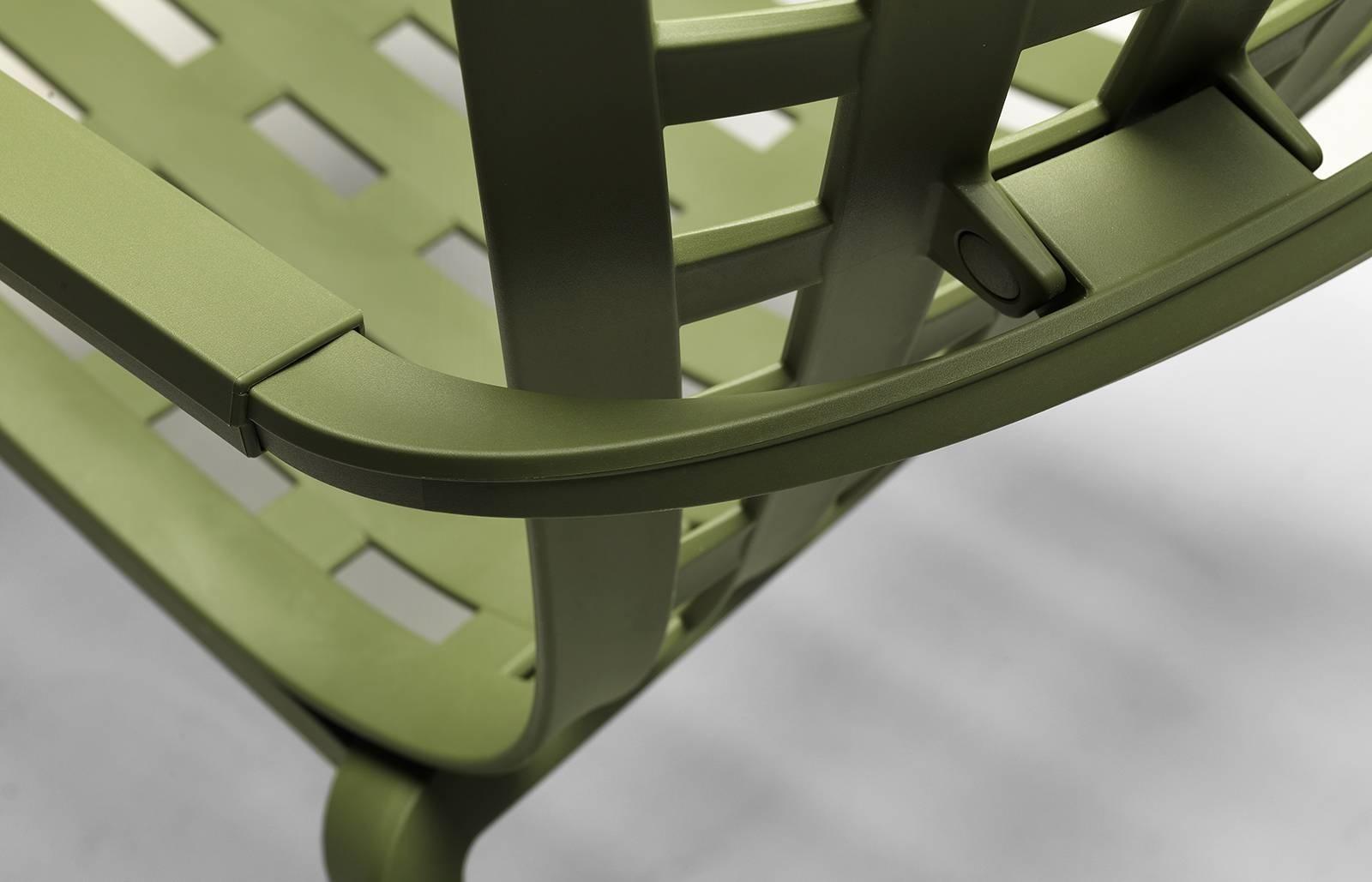 Fotel bujany z podłokietnikami Folio brą zowy - zdjęcie nr 7