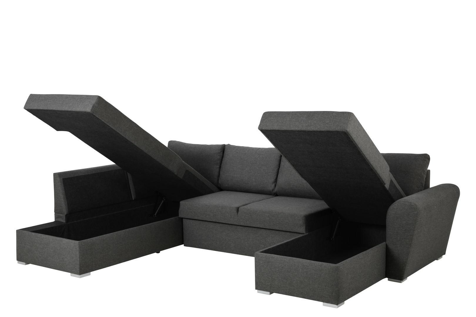 Narożna sofa Stanford Lux  rozkładana Sz ara lewa - zdjęcie nr 4