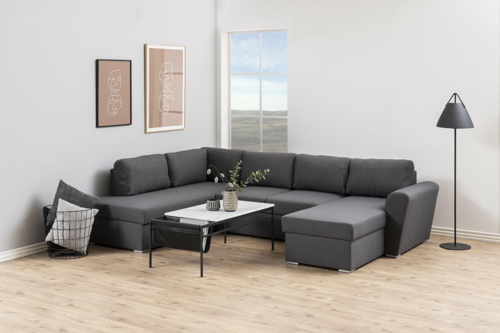Narożna sofa Stanford Lux  rozkładana Sz ara lewa - zdjęcie nr 5