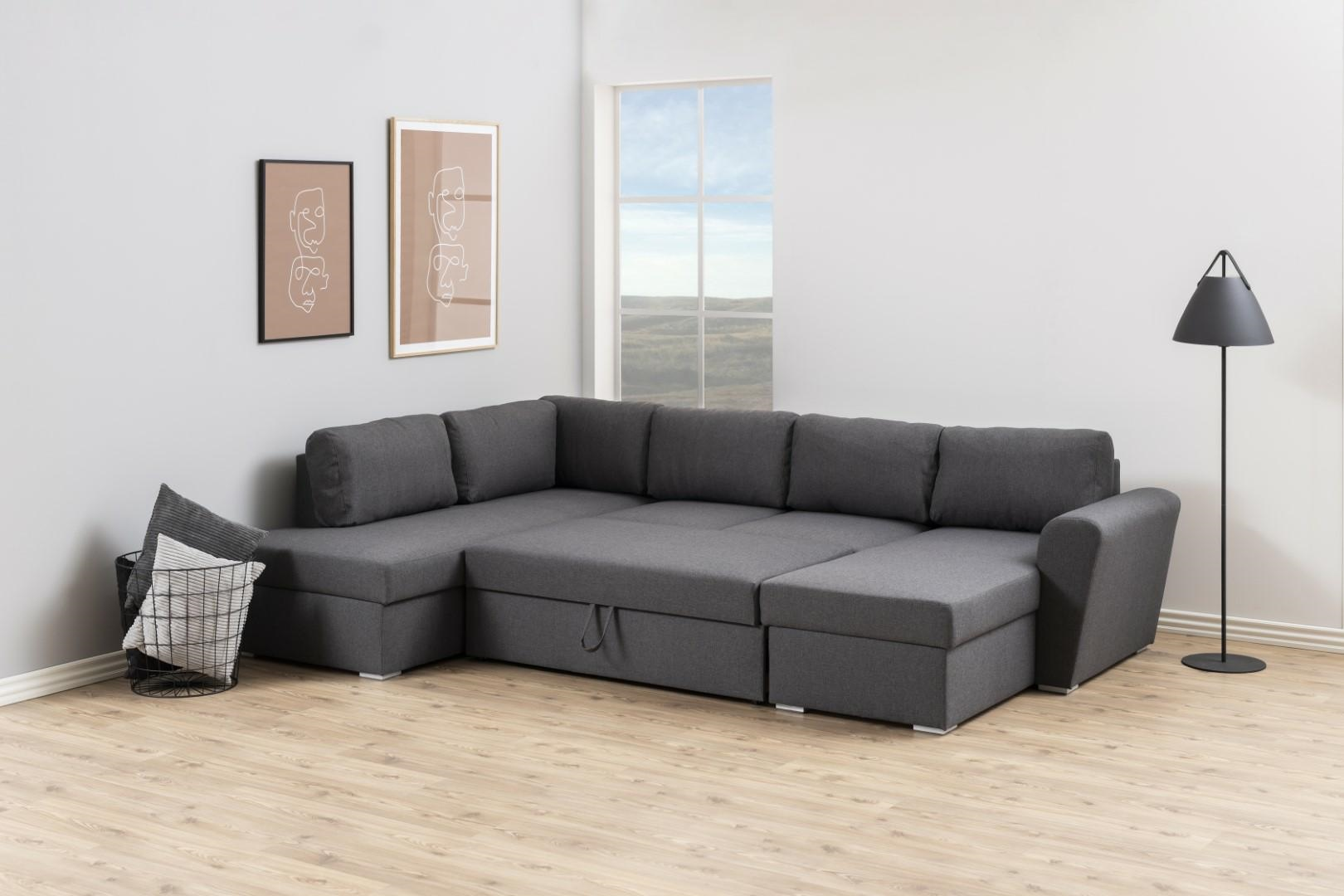 Narożna sofa Stanford Lux  rozkładana Sz ara lewa - zdjęcie nr 6