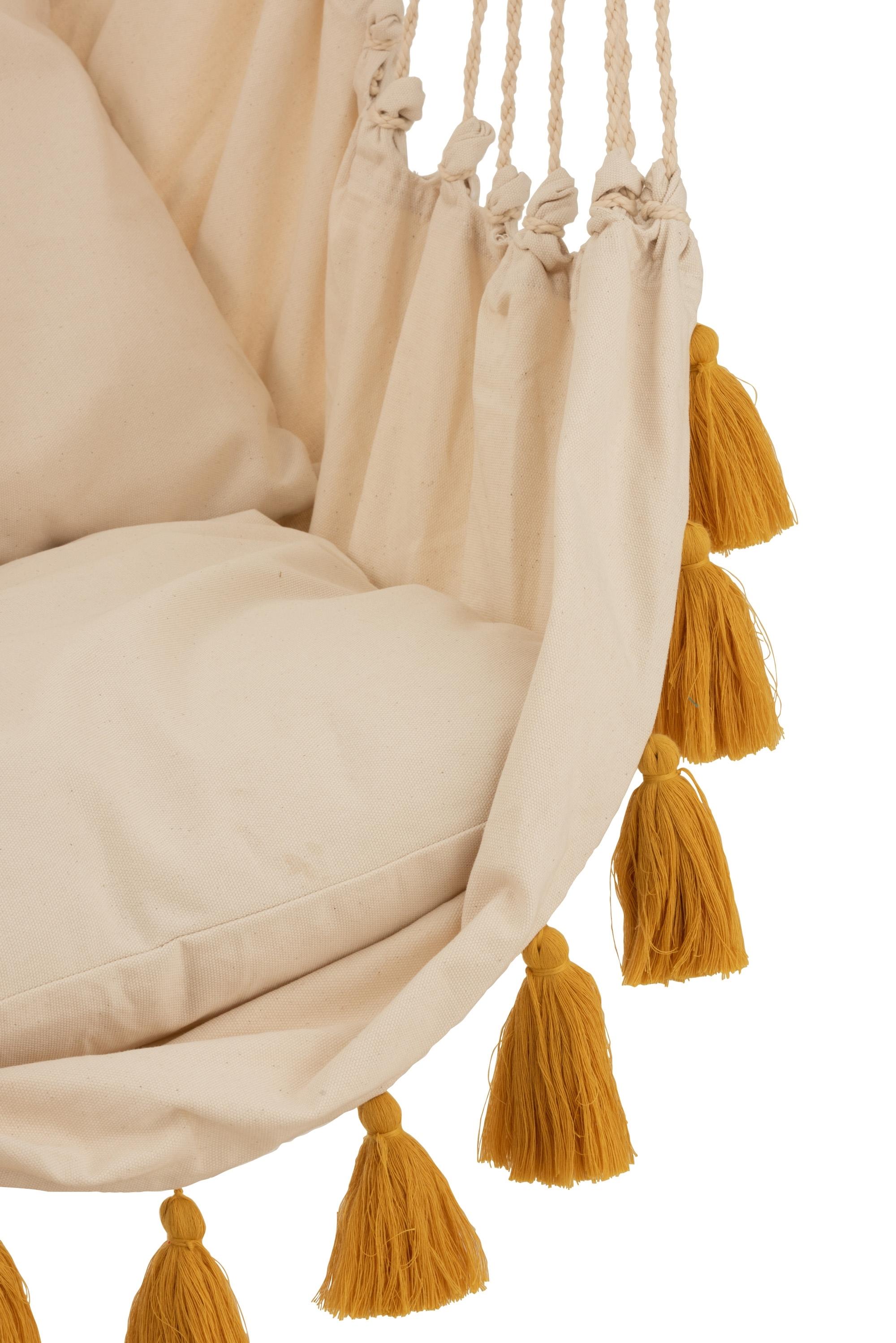 Krzesło hamak Borla Krem Bawełniany / Oc her - zdjęcie nr 3