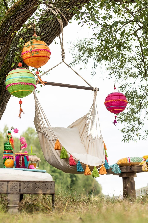 Krzesło hamak Borla Krem Kolorowy - zdjęcie nr 1