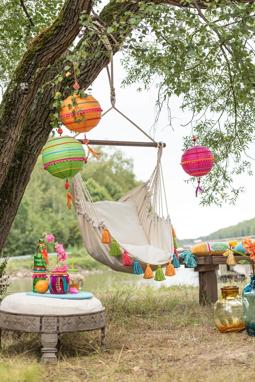 Krzesło hamak Borla Krem Kolorowy - zdjęcie nr 2