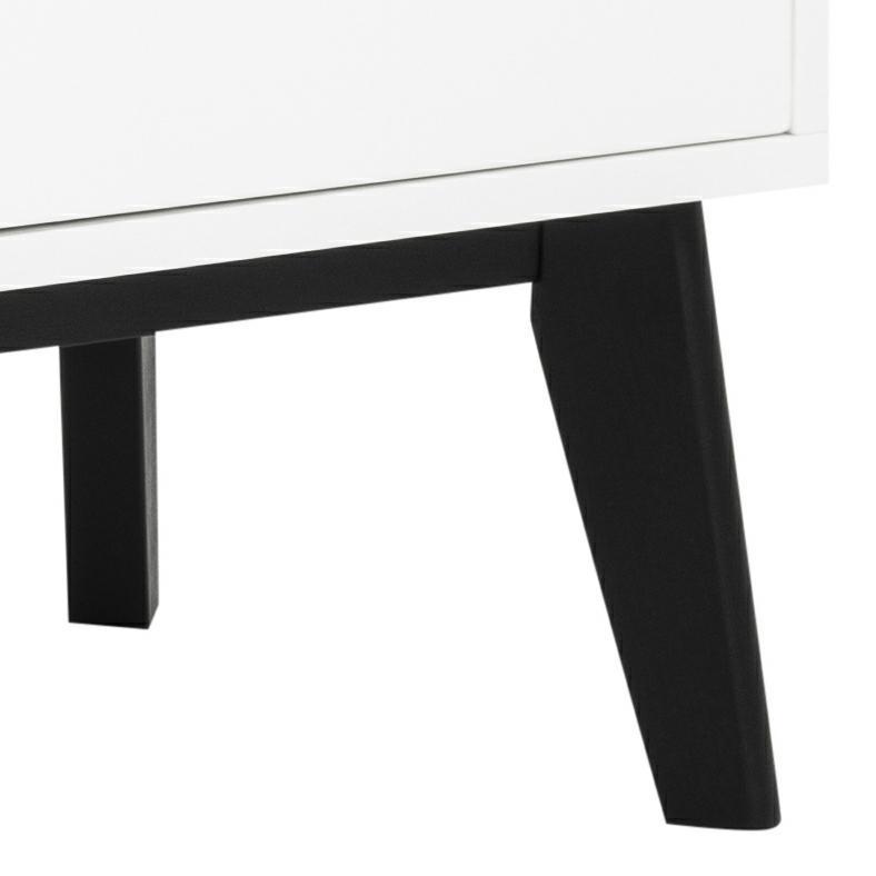Komoda Century biała czarne nogi - zdjęcie nr 5