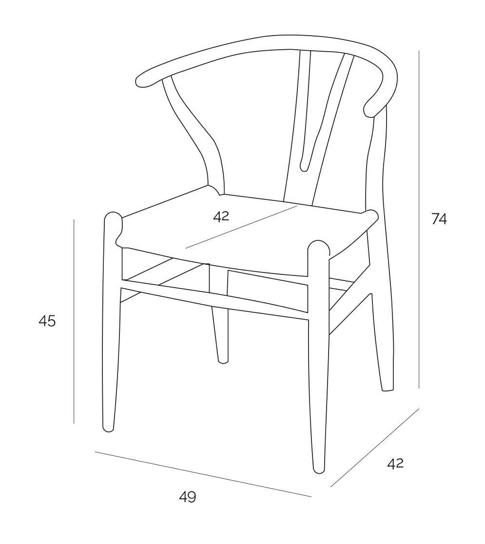 Krzesło Wicker Czarne czarny inspirowany Wishbone - zdjęcie nr 10