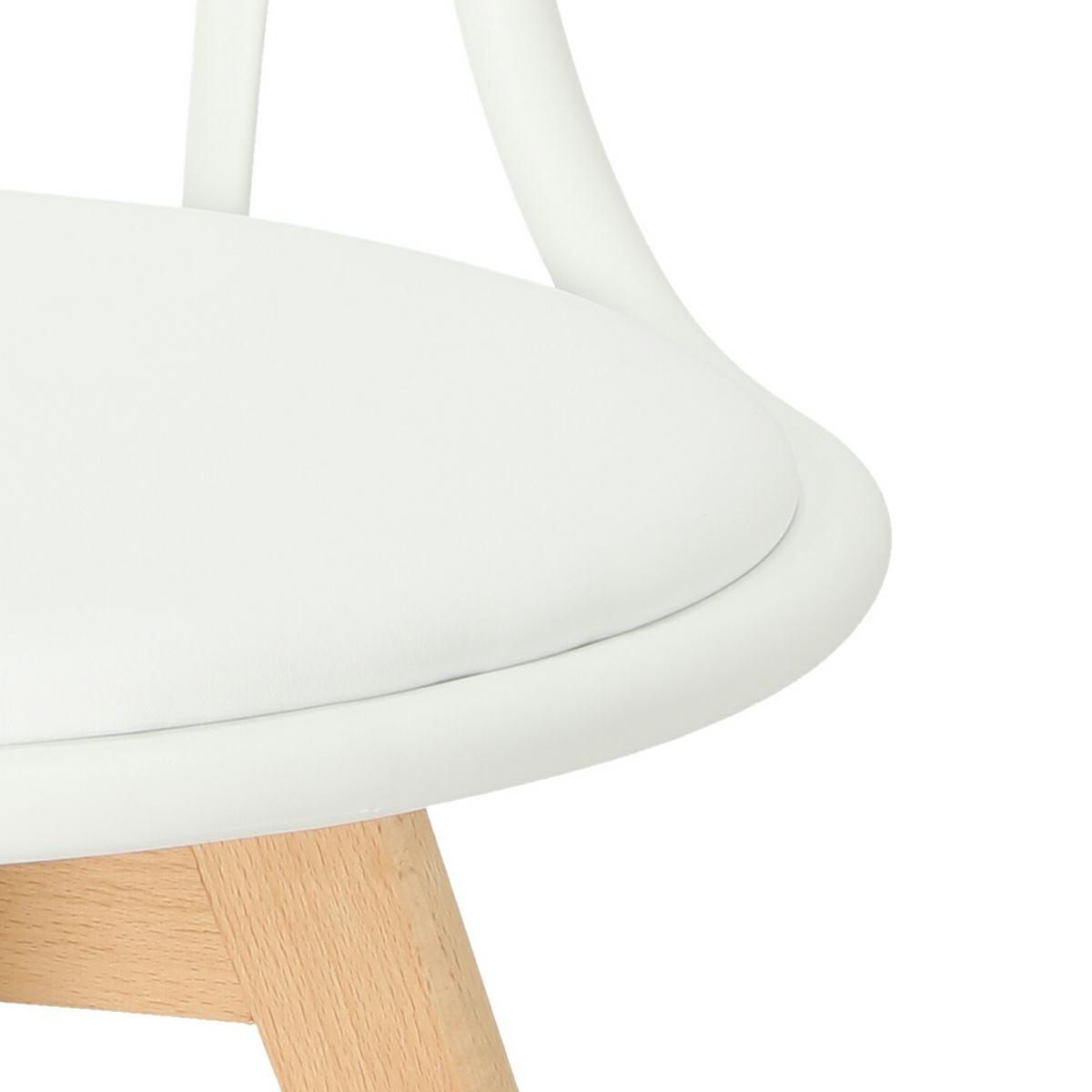 Krzesło Sirena białe - zdjęcie nr 9