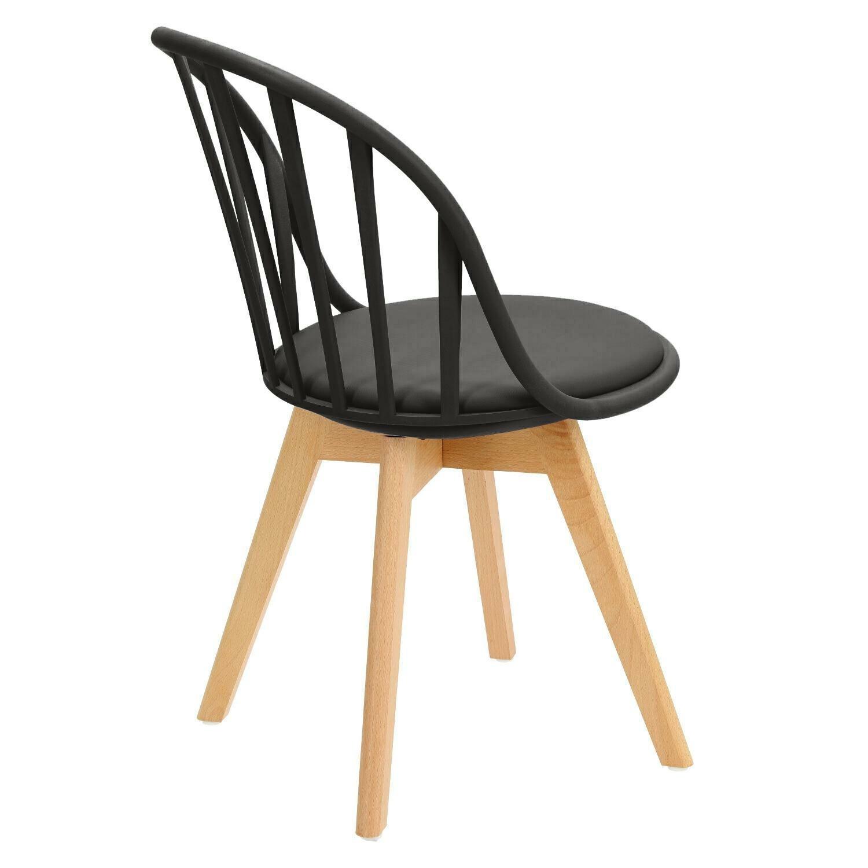 Krzesło Sirena czarne - zdjęcie nr 3
