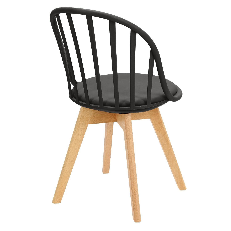 Krzesło Sirena czarne - zdjęcie nr 4